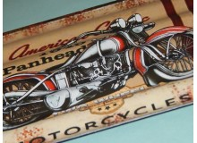 PLACA VINTAGE MOTORCYCLE