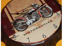 CHAPA RELOJ MOTOCICLETA VINTAGE