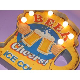 CUADRO LED BEER