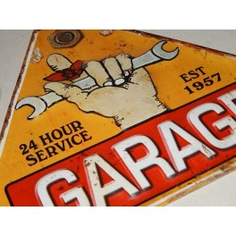 PLACA VINTAGE GARAGE