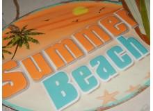 PLACA VINTAGE SUMMER BEACH