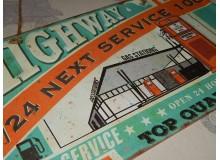 PLACA VINTAGE SERVICE RUTA 66