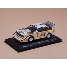 Coche Modelo AUDI QUATTRO E2 Vehiculo en miniatura de colección Vintage Automovil a escala