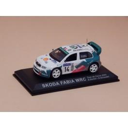 Coche Modelo SKODA FABIA WRC Vehiculo en miniatura de colección Vintage Automovil a escala