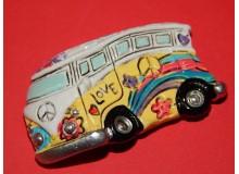 Imán cerámico vintage de furgoneta Volkswagen Camper en varios colores