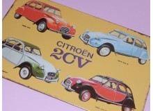 Cartel Chapa CITROEN 2CV Placa de decoración Vintage para pared de habitación, salón, bar, garage