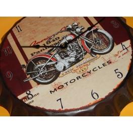 CHAPA RELOJ MOTOCICLETA VINTAGE PARA DECORAR PARED