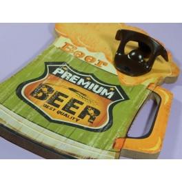 Cartel Chapa ABREBOTELLAS BEER Placa de decoración Vintage para pared de habitación, salón, bar, garage
