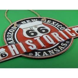 Cartel Chapa RUTA 66 Placa de decoración Vintage para pared de habitación, salón, bar, garage
