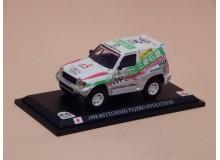 Coche Modelo MITSUBISHI PAJERO EVOLUTION Vehiculo en miniatura de colección Vintage Automovil a escala