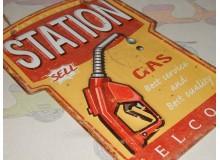 Cartel Chapa SURTIDOR RUTA 66 Placa de decoración Vintage para pared de habitación, salón, bar, garage