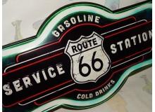 Cartel Chapa DE METAL SERVICE RUTA 66 Placa de decoración Vintage para pared de habitación, salón, bar, garage