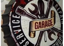 CHAPA VINTAGE GARAGE DECORACION PAREDES