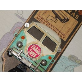 Cartel Chapa ABREBOTELLAS FURGO HIPPIE Placa de decoración Vintage para pared de habitación, salón, bar, garage