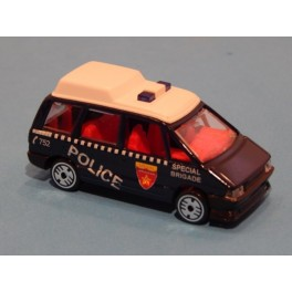 Coche Modelo RENAULT ESPACE POLICIA Vehiculo en miniatura de colección Vintage Automovil a escala