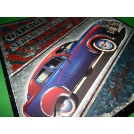 Cartel Chapa CUADRO GARAJE Placa de decoración Vintage para pared de habitación, salón, bar, garage