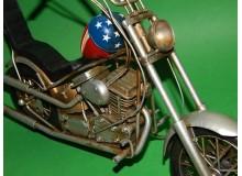 Coche Modelo MOTOCICLETA CHOPPER Vehiculo en miniatura de colección Vintage Automovil a escala