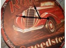 RELOJ MADERA VINTAGE DECORACION  ROMA CLASSIC CARS