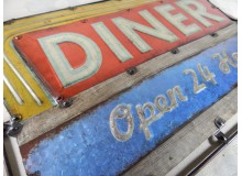 CUADRO METAL VINTAGE DECORACION PARED DINER RUTA 66