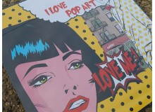 CUADRO VINTAGE DECORACION PARED COMIC POP ART