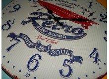 RELOJ METAL VINTAGE RETRO SURF DECORACION PARED
