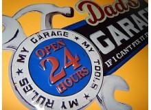 Cartel Chapa METAL DECORACION PARED GARAGE RULES Placa de decoración Vintage para pared de habitación, salón, bar, garage