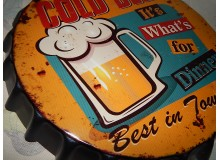 CHAPA BOTELLA ,METAL VINTAGE DECORACION PARED COLD BEER
