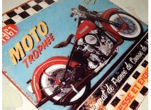 CHAPA METAL VINTAGE DECORACION PARED MOTO CUSTOM