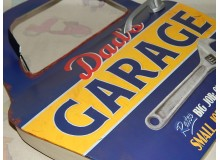 PLACA METAL VINTAGE DECORACION PARED GARAGE