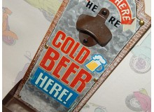 ABREBOTELLAS METAL VINTAGE DECORACION PARED RUTA 66 BEER