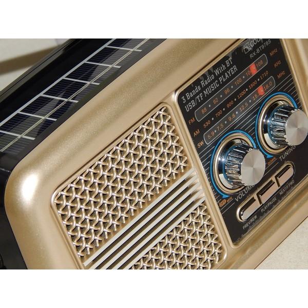 RADIO TRANSISTOR AM/FM USB SOLAR DECORACION VINTAGE