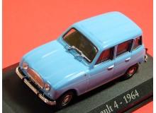 AUTO DE COLECCION VINTAGE EN MINIATURA A ESCALA MODELO RENAULT 4 1964
