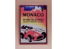 Cartel Chapa GRAN PREMIO MONACO 1956 Placa de decoración Vintage para pared de habitación, salón, bar, garage