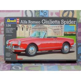 KIT MONTAJE ALFA ROMEO GIULIETTA SPIDER maqueta para montar Vehiculo en miniatura de colección Vintage Automovil a escala 1:24
