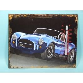 Cartel Chapa TERMOMETRO AUTOS VINTAGE Placa de decoración Vintage para pared de habitación, salón, bar, garage