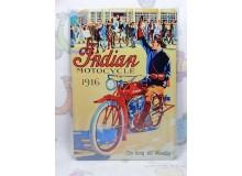 Cartel Chapa MOTO INDIAN Placa de decoración Vintage para pared de habitación, salón, bar, garage