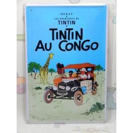 Cartel Chapa TINTIN Placa de decoración Vintage para pared de habitación, salón, bar, garage