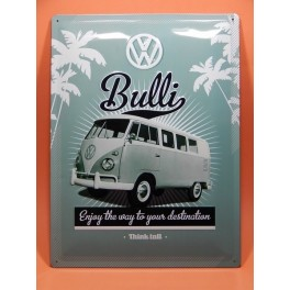 Cartel Chapa VOLKSWAGEN CAMPER Placa de decoración Vintage para pared de habitación, salón, bar, garage