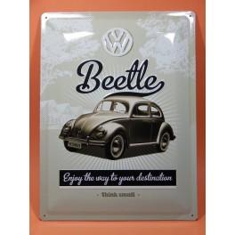 Cartel Chapa VOLKSWAGEN BEETLE Placa de decoración Vintage para pared de habitación, salón, bar, garage