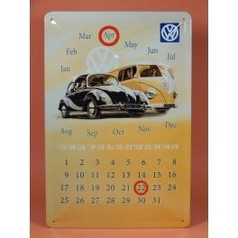 Cartel Chapa CALENDARIO VOLKSWAGEN Placa de decoración Vintage para pared de habitación, salón, bar, garage