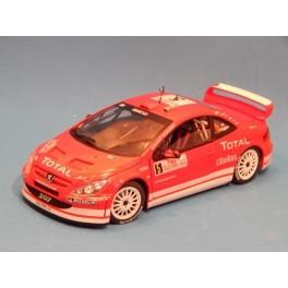 Coche Modelo PEUGEOT 307 WRC Vehiculo en miniatura de colección Vintage Automovil a escala