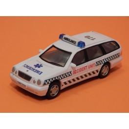 Coche Modelo MERCEDES CLASE E AMBULANCIA Vehiculo en miniatura de colección Vintage Automovil a escala