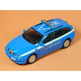 Coche Modelo ALFA ROMEO 156 SPORTWAGON POLIZIA Vehiculo en miniatura de colección Vintage Automovil a escala