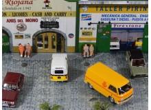 Coche Modelo CITROEN DIORAMA BASADO EN UN ANTIGUO TALLER Vehiculo en miniatura de colección Vintage Automovil a escala 1:43
