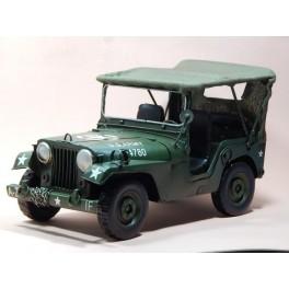 Coche Modelo JEEP EJERCITO Vehiculo en miniatura de colección Vintage Automovil a escala