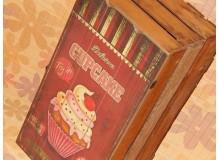 CAJA MADERA CUP CAKES